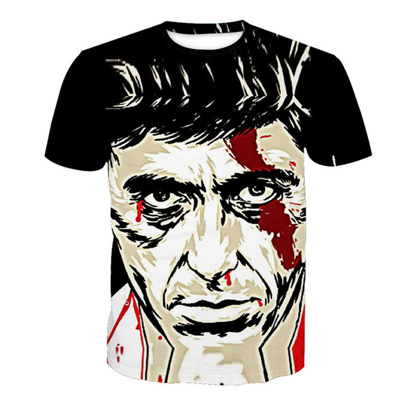 Camiseta de hombre Hombre 3D Digital Impreso completo Camiseta gráfica Camiseta Casual Tops Unisex Mangas cortas Camisetas Camisetas Blusa (RT-0512)