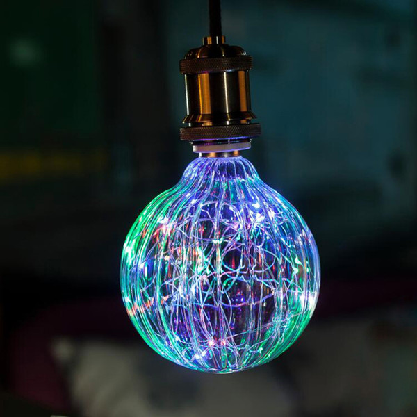 G125 Pumkin RGB 3W Creative Edison Light Bulb Vintage Decoration LED Filament lamp Copper Wire String E27 220V Replace Incandescent Bulbs