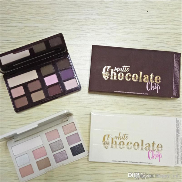 best selling White Chocolate Chip Eye Shadow Makeup Too Matte chocolate chip eyeshadow Palette 11 color Makeup eyeshadow Face with chocolate smell