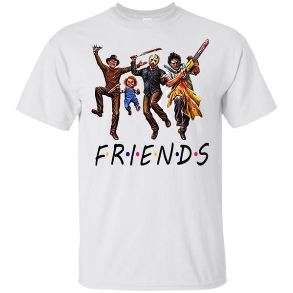 Charaktere Freunde Halloween-Geschenk T T-Shirt Schwarz-Navy für Männer-Frauen 27Th 30. 40. 50. Geburtstag T Shirt