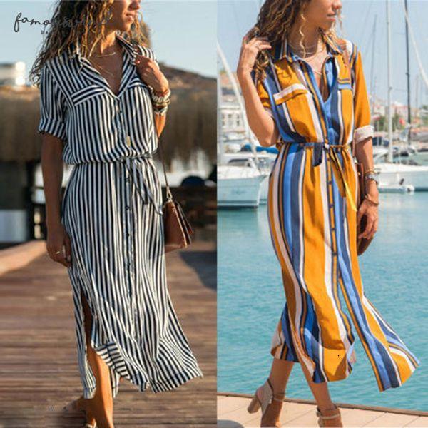 New Fashion Spring Womens Boho Evening Casual Long Maxi Party Beach Dress Bohemian Dresses Sundress Drop Shipping Good Quality