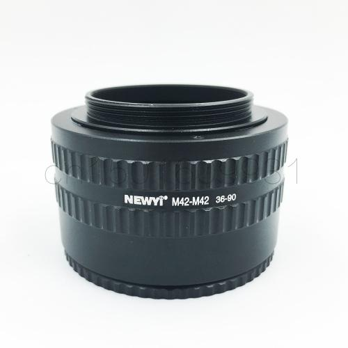M42 to M42 36-90mm Adjustable Focusing Helicoid Adapter Macro Tube 36mm-90mm