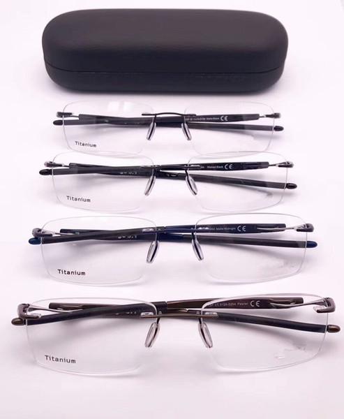 2019 Sport-Brand XO5126 Rimless GLASSES male rectangular light-weight pure-titanium prescription glasses eyeglasses full-set case