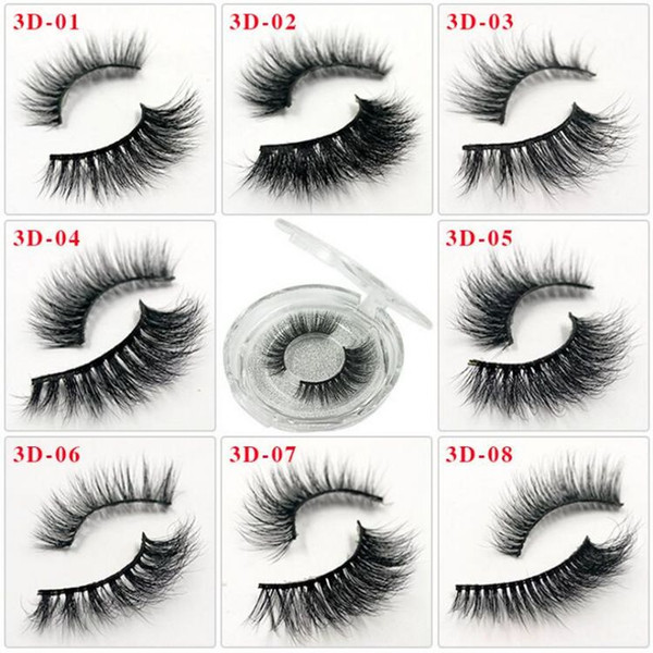 55 Styles Individual Mink Lashes 3D False Eyelashes Natural Long Invisible Thick Band Stage Lashes Curl Soft Extensions Circle Box