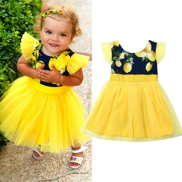 2019 2019 New Newborn Infant Baby Girls Summer Clothes Floral Party Pageant  Holiday Princess Party Pageant Dress Sundress From Lin_02, $39 28 |