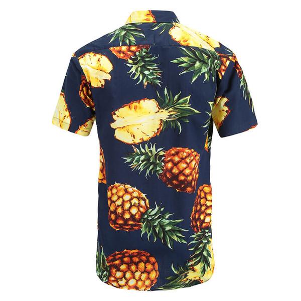 Herren Freizeithemd Sommer Hawaii Aloha Shirt Herren Button Floral Ananas Print Kurzarm New S-3XL2019