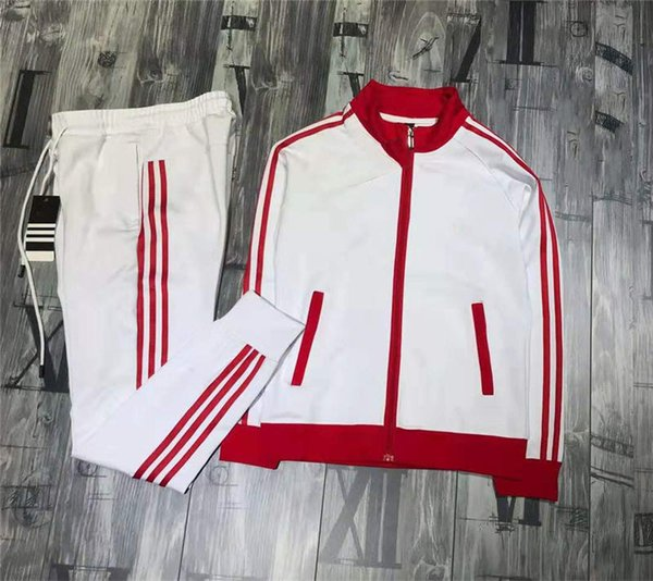 Mens Hoodie Tracksuit Embroidery Letters Printed Mens Joggers Hoodie Striped Sleeves Sportswear Tracksuits Suits Size S-2XL