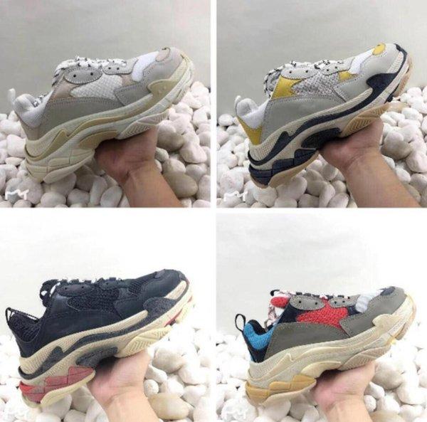 Men Women whole mencomfoTriple S woCasual Shoes Dad Shoe Triple S Sneakers for Men Women Unveils Trainers Leisure Retro Training Old Grandpa