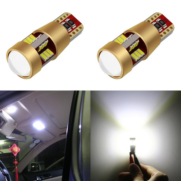 10XAutomobiles LED T10 Canbus W5w Auto Bulb Clearance Lights LED Voiture 12v 27 SMD Light-emitting Diode 3014 Tail Light