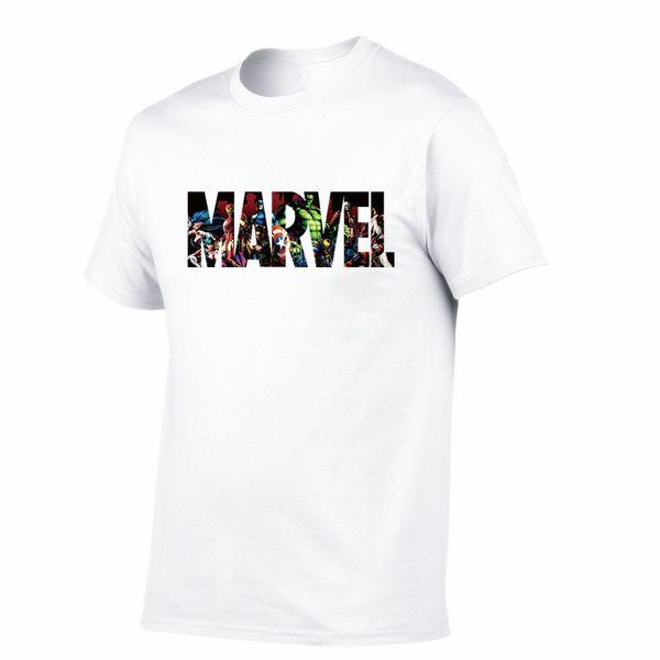 Yeni Moda MARVEL t-Shirt erkekler pamuk kısa kollu% 100% Rahat erkek tişört marvel t shirt erkekler tees tops Ücretsiz kargo