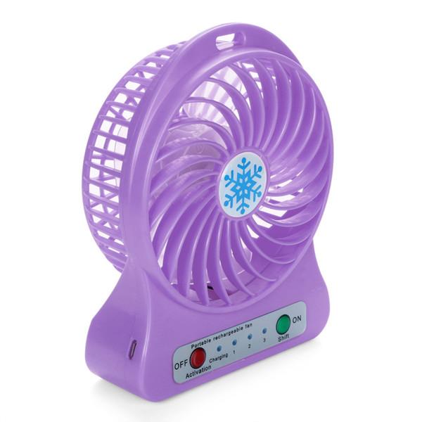 Mini Fan Portable LED Light Fan Mini Desk USB Charging Air Cooler 3 Mode Speed Regulation LED Lighting Function Cooling Fan