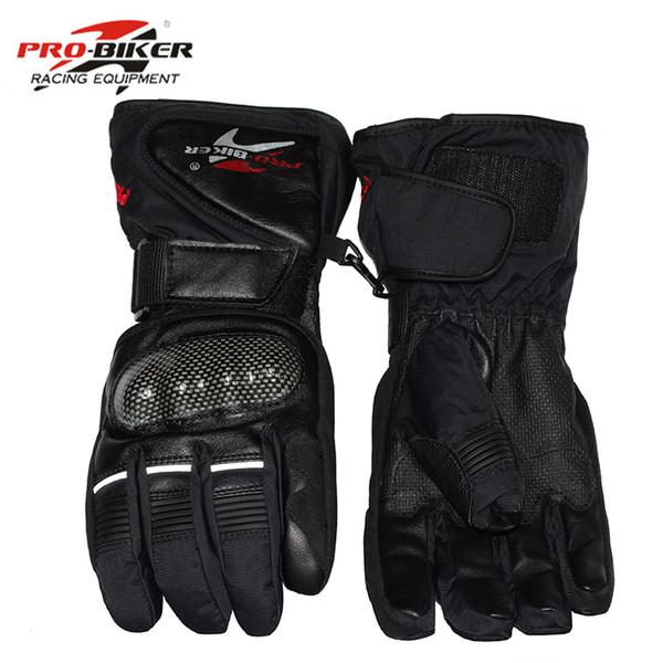 Pro Biker Guantes Motorradhandschuhe Wasserdichte Lederhandschuhe Motorrad Winter Warm Vollfinger Motocross Motorrad Moto Handschuh