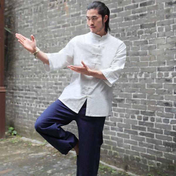 Yoga roupa terno de algodão Taiji grupo monge meditação viajar desporto chá da arte desempenho musice popular dos homens Unisex New vestuário sping verão