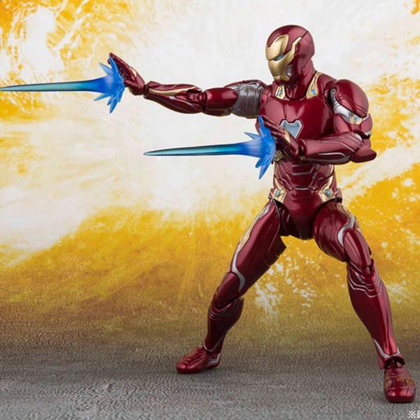 Nuovo The Avengers 4 Endgame SHF Ironman MK50 SHF Infinite war Acciaio bone Il modello Flash movibile in scatola Toy Action Figure Modello C31