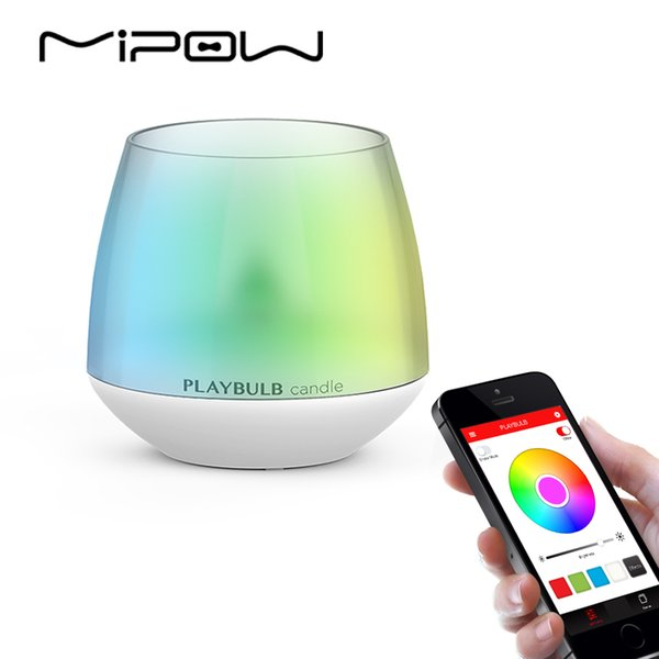 MIPOW PLAYBULB Smart Lights LED Bulb Dimmable Multi Color RGB Wake-Up Wireless with Remote Control Bulb for Home