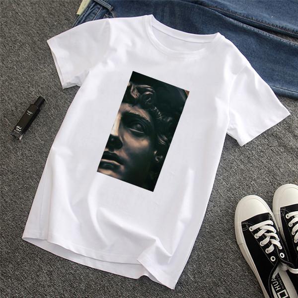 Erkek tişört David Michelangelo Yaz Kısa Kollu Komik Baskılı Komik baskı Eğlenceli Harajuku tişört streetwear yeni erkek T-shirt