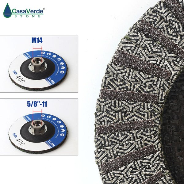 best selling Electroplated diamond Flap Disc 4.5 inch with arbor 5 8-11 or M14 metal adapter for dry or wet polishing