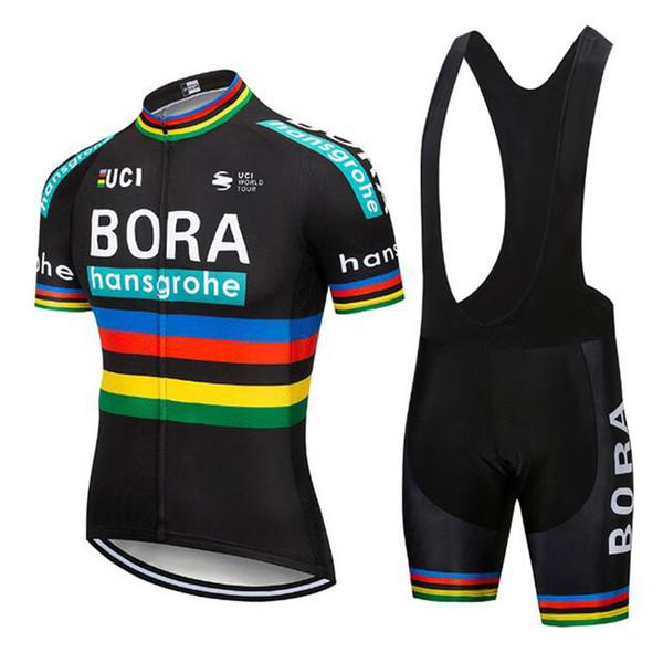 2019 команда BORA New Велоспорт с короткими рукавами трикотажные шорты (нагрудник) комплекты езда на велосипеде Летняя дышащая одежда одежда ropa ciclismo 9D гелевая подушка