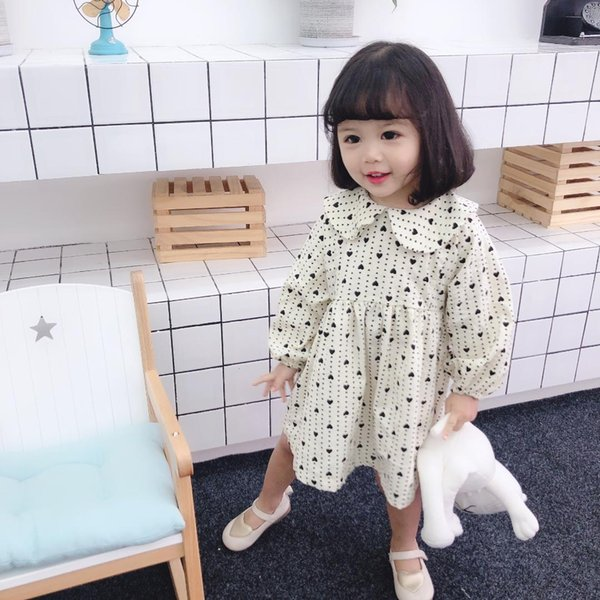 Spring Corduroy Dress Baby Girl's Doll Collar Fashionable Korean Version dress Baby Girl Clothes Flower Girl