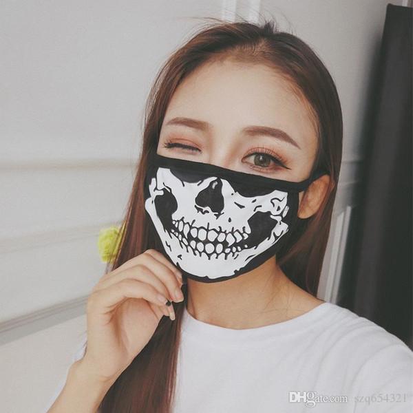 1шт хлопок маска для пыли маска мужская мода череп велосипед пылезащитный хлопок защитная маска для лица личного здравоохранения 2019
