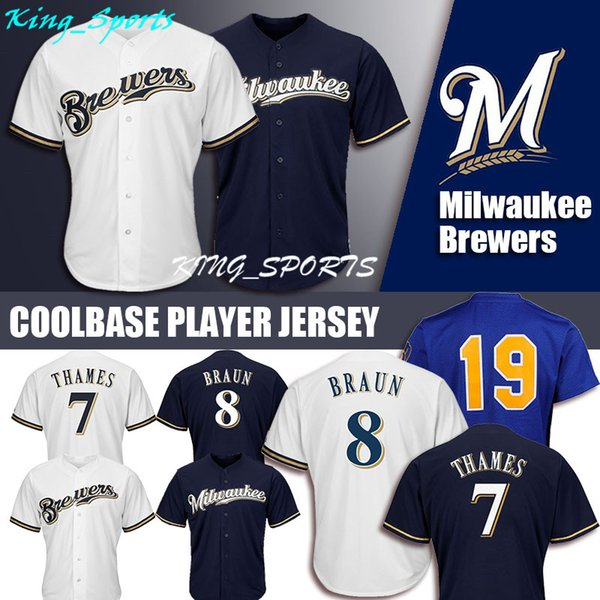 outlet store 25188 41531 2019 Milwaukee Brewers Majestic Coolbase Jersey 8 Ryan Braun Jersey 7 Eric  Thames Jersey 19 Robin Yount From , $23.14   DHgate.Com