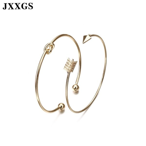JXXGS Love Bracelet Bangles For Women Nail/Gold/Knot Bracelets Cuff Bangles For Women Arm Jewelry 2019 Charm Daily Accessories