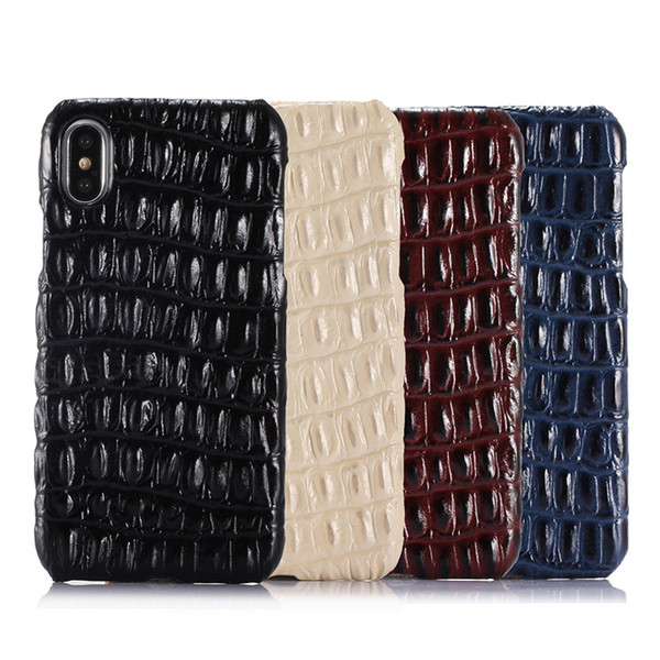 Luxury Genuine Leather Phone Case for iPhone 7 Plus 3D Crocodile Skin Pattern 6 6S Plus Slim Cover Mobile Phone Cases