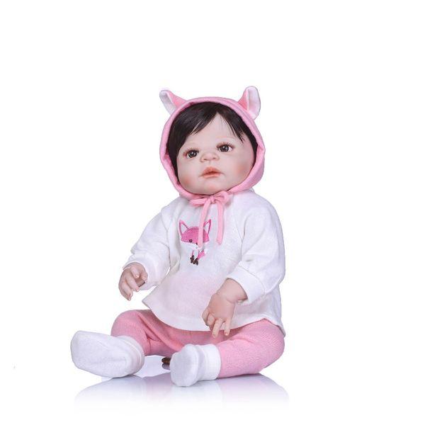 Bebe Reborn 55cm Silicone Reborn Dolls Lifestyle Soft Bjd Princess Doll Reborn Toys For Girls Fashion Gifts