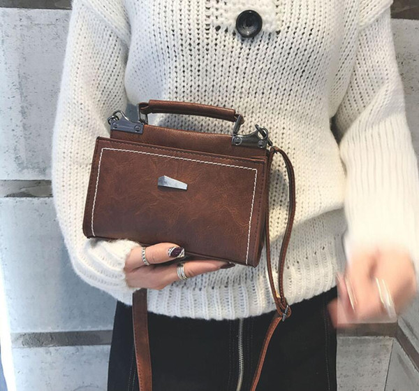 Novo Top Retro Mulheres Menina Sacos de Ombro Bolsa De Couro PU Cruz Corpo de Luxo Designer de Presentes Bonitos Ocasionais Acces