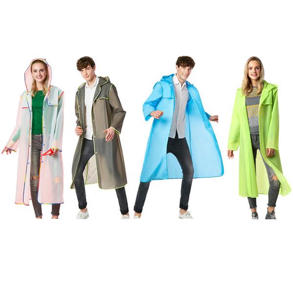 Longue EVA réutilisable épaissir Vêtements de pluie Manteau imperméable universel Poncho Imperméable Randonnée Camping Tour Imperméable À Capuche pour Adultes Hommes Femmes