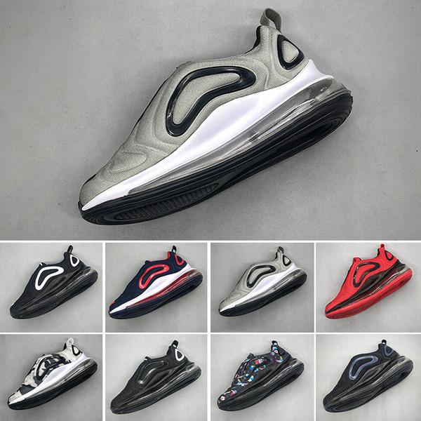 Compre Nike Air Max 720 Niños Niño Y Niña Azul Rojo Negro Gris Zapatos Deportivos De Alta Calidad Bebé Niños Diseñadores De Moda Hombres Mujeres
