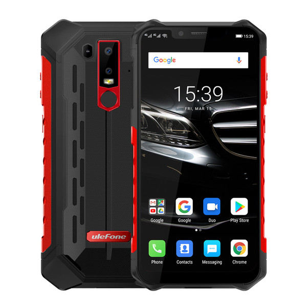 """Ulefone Armor 6E IP68 Waterproof Mobile Phones Android 9.0 6.2"""" Helio P70 4G+64G Face ID NFC Wireless Charge Rugged Smartphone"""