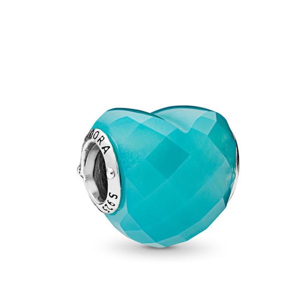 2019 Nouveau modèle de mode designer de luxe 925 en argent Sterling s pulsa de Pandora Aqua Enchantment Charms Perles Forme de l'amour Womens Gift
