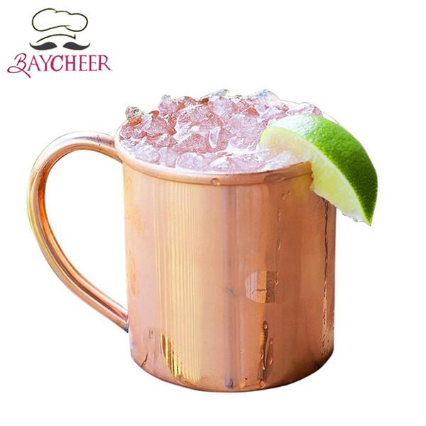 16 oz tasse de cuivre pur mule moscou durable tasse de bière cuivrée tasse de café tasse de lait tasse de cocktail en verre whisky verre