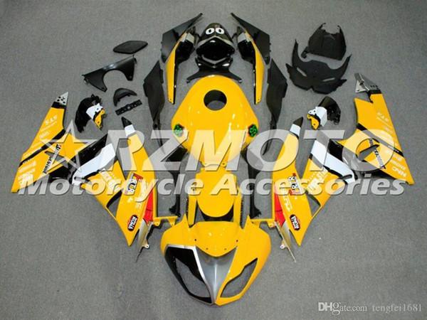 Nuovo stampo ABS kit carene moto ad iniezione per Kawasaki Ninja 636 ZX6R 2009 2010 2011 2012 carenature del motociclo gialle personalizzato
