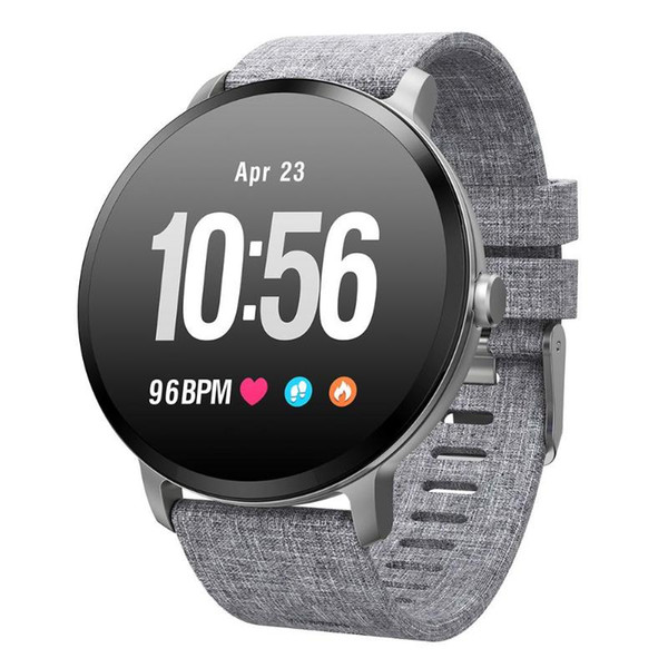 696 V11 Touch Smart Fitness Bracelet Watch Round Dial Heart Rate Sleep Monitor Waterproof gps watch fitness tracker Smartwatch