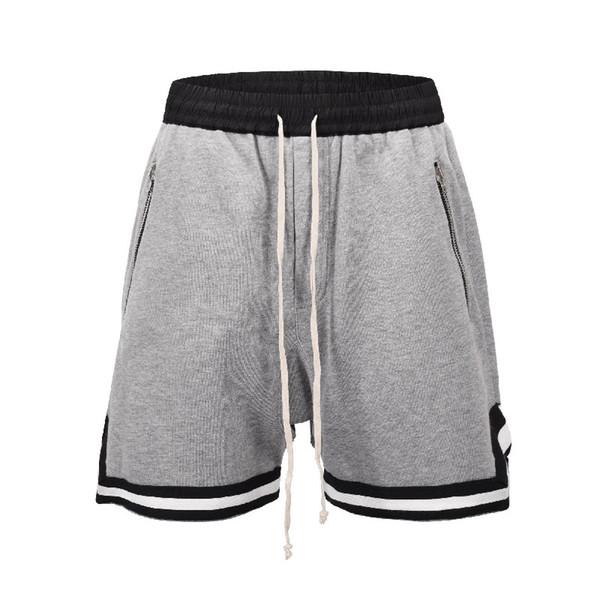 Herren Shorts Sommer New High Street Fitnessjoggers Hosen Schwarz-weiße Stitching-Hosen mit seitlicher Öffnung Fuß Hip-Hop Trendy Designer Sweatpants
