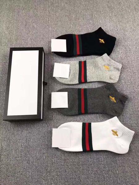 2018 marca de moda Tiger lobo abeja calcetines bordados transpirable deporte calcetín mujer hombre señora niño niña calcetines ocasionales por mayor unisex algodón calcetín