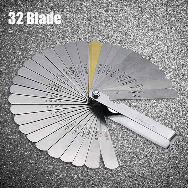 best selling Kickstarters & Parts ZHUANGQIAO 32 Blades Feeler Gauge Metric Gap Filler 0.04-0.88mm Thickness Gage Tool For Motorcycle valve Measurement
