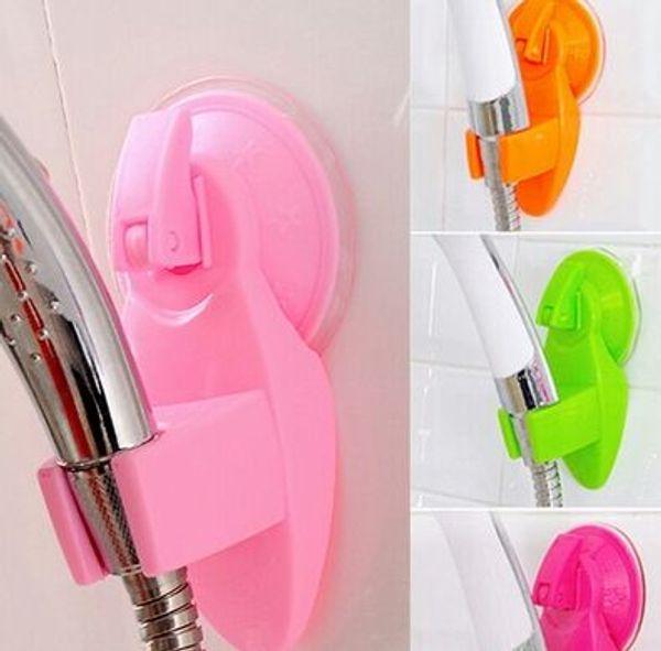 Adjustable Bathroom Shower Sprinkler Holder Strong Sucker Type Shower Head Bracket Stand for Shower Mounting