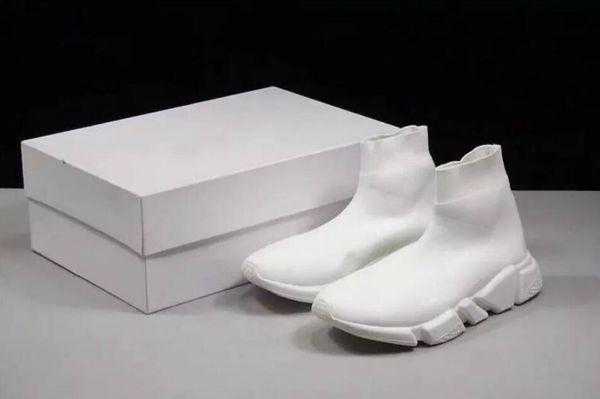 Best Level Luxury Brand Designer casual Shoes Speed Trainer Black Red Mr Porter Triple Black Flat Fashion Socks Boots Sneaker Speed Trainer