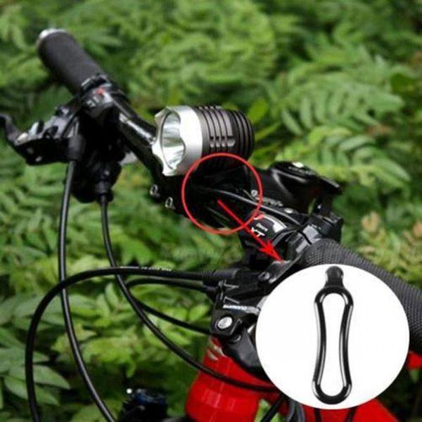 4pcs black rubber band pvc ring for t6 led headlight bike headlamp bicycle 2/_7