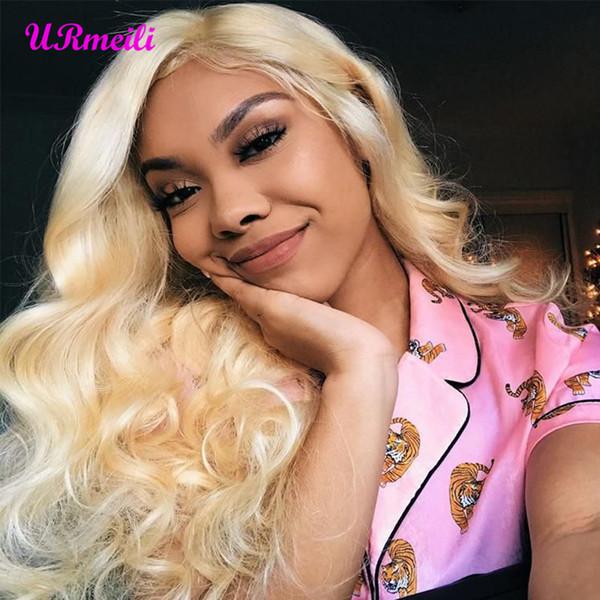 URmeili волос тела волна 613 пучки с фронтальной бразильские волосы ткать пучки Virgin человеческих волос Блондинка пучки с закрытием DHgate поставщиков