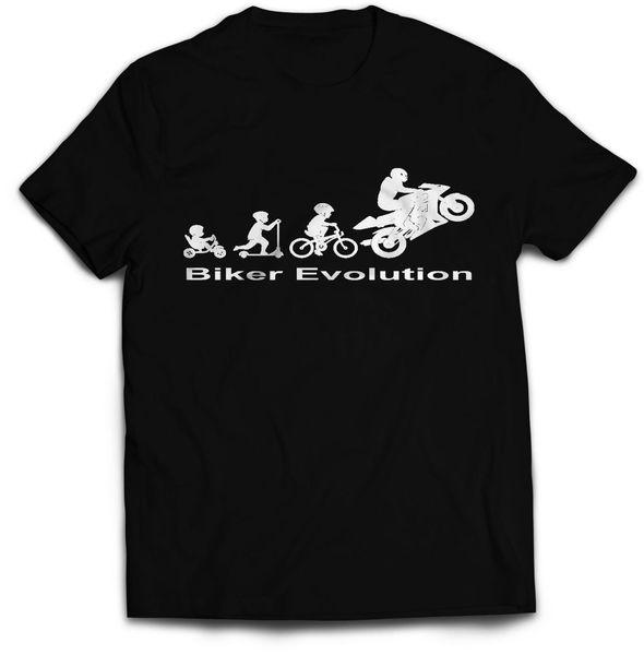 Evolução do motociclista camisetas Engraçada grande ideia do presente camiseta Motorbike Motorcycle