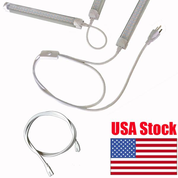LED-Schlauchanschlusskabel Drahtverlängerungskabel für integrierte LED-Röhrenleuchte Weiß Schwarz Farbe 200cm Double End 3 Pin