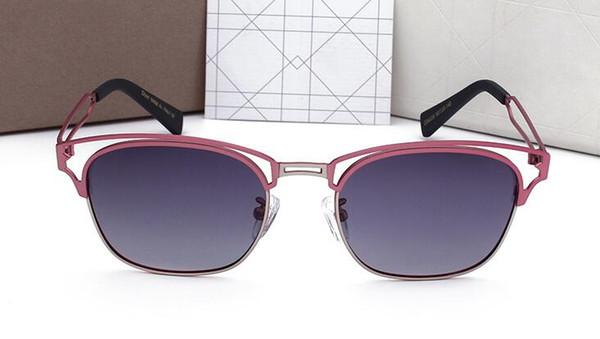 Gafas de sol polarizadas de alta calidad con montura pequeña para mujer gafas de sol de diseñador gafas vintage 0220 con estuches y estuches originales