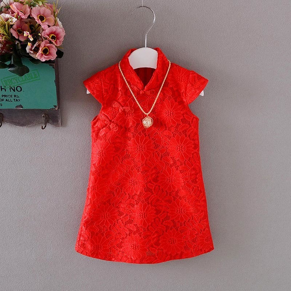 good quality baby girls fashion party dress 2019 children girls lace wedding dress for kids girl ball gown 1-4 girls chinese style