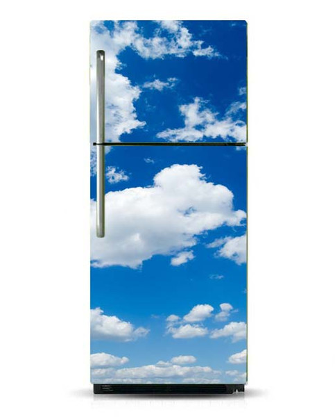 Fridge Vinyl Sticker Blue Sky Cloudy Self-Adhesive Vinyl Refrigerator Decal / Fridge Wraps / Refrigerator Wrap/Dishwasher Sticker