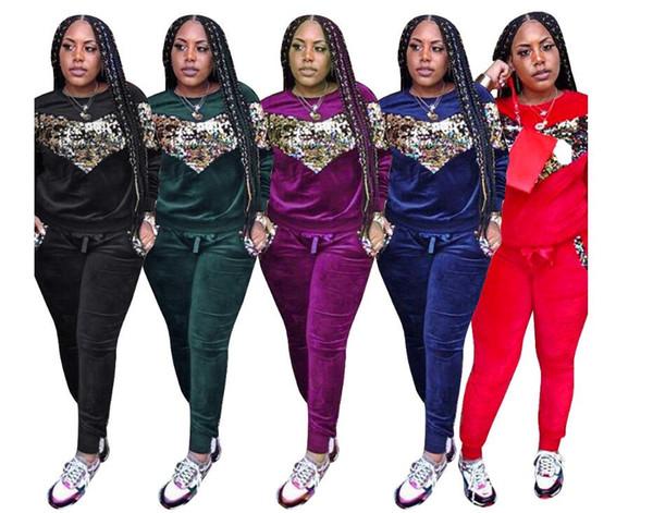 2020tommy vente chaude Set printemps / Autum Survêtement Femmes Sweats à capuche Lettre Imprimer Costume Casual manches longues sport Costumes Sweat + Pantalons