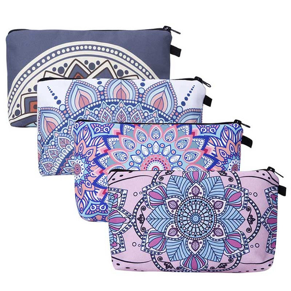 Hot Sale Cosmetic Bags with Zipper 3D Printed Vintage Floral Necessaries for Women Toiletry Free Shipping